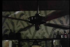 Ceiling fan stock video footage