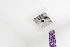The ceiling fan in the bathroom.  Stock Images