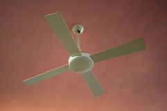 Ceiling fan. Electric ceiling fan in room royalty free stock photo