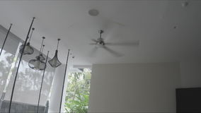 Ceiling fan in a hotel. Thailand stock footage