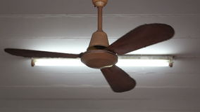 A ceiling fan in a house stock footage