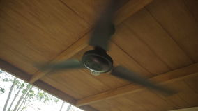 Ceiling fan in the house. On a tropical island stock footage