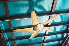 Ceiling fan indoors Stock Images