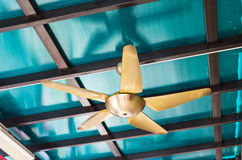 Ceiling fan indoors Stock Photo