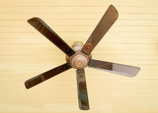 Ceiling fan inside the living room Royalty Free Stock Images
