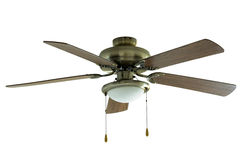 Ceiling fan isolated on white Stock Image