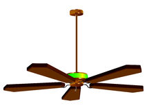 Ceiling fan lamp isolated Stock Image