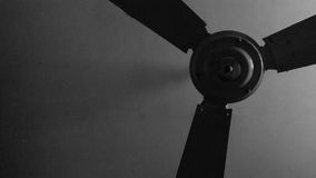 Ceiling fan. Old ceiling fans in black white color stock photo