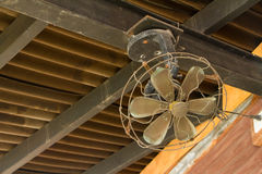 Ceiling Fan. An Old Ceiling Fan on top royalty free stock photos