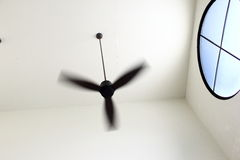 Ceiling fan in room Stock Images