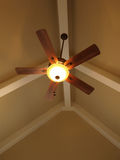 Ceiling Fan in Vaulted Ceiling Royalty Free Stock Photography