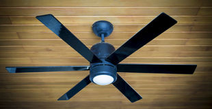 Ceiling fans. Ceiling fan on a wooden ceiling Royalty Free Stock Image