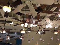 Ceiling fans selling at furniture market Royalty Free Stock Photography