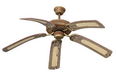 Ceiling fans which is made of vintage wood. Stock Image
