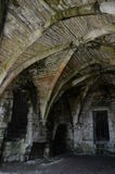 Ceiling Feature. A view of the ceiling design among the ruins of Culross abbey Royalty Free Stock Image