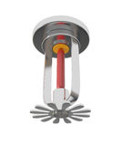 Ceiling Fire Sprinkler isolated on white. 3d illustration Royalty Free Stock Photos