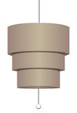Ceiling fixture. Simple modern chandelier for offices. Vector illustration Stock Image
