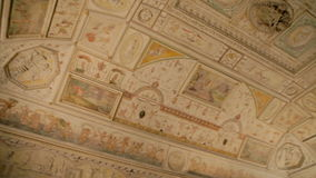 Ceiling fresco in Castel Sant'Angelo in Rome, Italy. Gorgeous ceiling decorations with special meaning in Castel Sant'Angelo in Rome, Italy stock video