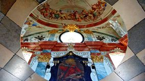 Ceiling fresco of the library at the monastery Altenburg Royalty Free Stock Photo