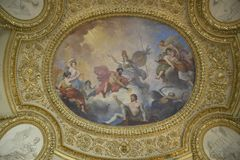 Ceiling Fresco at the Louvre Museum, Paris, France Stock Photo