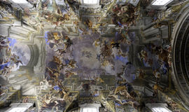 Ceiling Fresco of Sant'Ignazio, Rome Royalty Free Stock Images