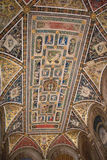 Ceiling frescoes in biblioteca Piccolomini of Siena Cathedral. Duomo, Siena, Tuscany, Italy. Royalty Free Stock Images