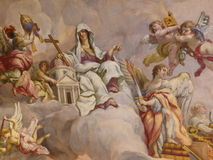 Ceiling frescoes in the Karlskirche in Vienna Royalty Free Stock Photo