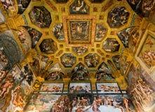 Ceiling frescoes of Palazzo Te in Mantua Stock Photo