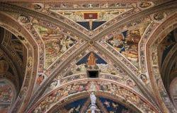 Renaissance Frescoes in Siena Baptistery, Italy