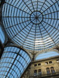 Ceiling of Galleria Umberto I Stock Images