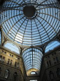 Ceiling of Galleria Umberto I Stock Photography