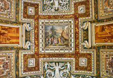 The ceiling of the Gallery of Maps. Vatican museum Stock Photography