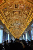 The ceiling of the Gallery of Maps. Vatican museum Royalty Free Stock Photos