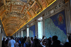 The ceiling of the Gallery of Maps. Vatican museum Stock Image