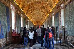 The ceiling of the Gallery of Maps. Vatican museum Royalty Free Stock Photo
