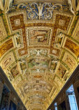 The Ceiling of the Gallery of Maps Royalty Free Stock Photography