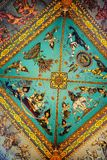 Ceiling of Gate of Victory located in Patuxay park - famous landmark in Vientiane, Laos Royalty Free Stock Image