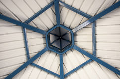 Ceiling of the gazebo in a park. This is a ceiling of the gazebo in a public  park Stock Photos