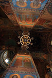 Ceiling of gilded church Stock Photo