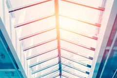Ceiling glass roof, eco building. Stock Images