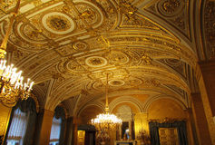 Ceiling with gold leaf Stock Images