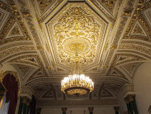 Ceiling with gold leaf Stock Photos