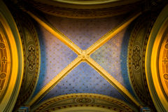 Ceiling with gold stars Stock Images