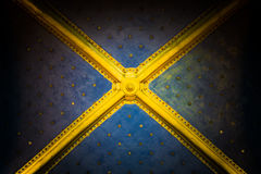 Ceiling with gold stars Stock Photo