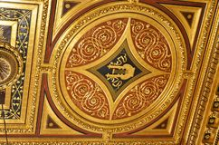 The ceiling of the golden room of the concert house of Vienna Stock Photo
