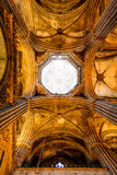 Ceiling of gothic cathedral Royalty Free Stock Image