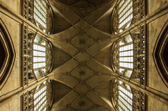 Ceiling of gothic cathedral. Ceiling of St. Vitus cathedral in Prague, Czech Republic Royalty Free Stock Photo