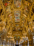 Palais Garnier ceiling. Ceiling in Grand Foyer of the Palais Garnier, the Opera of Paris royalty free stock images