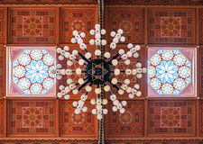 Ceiling in The Great Synagogue is a historical building in Budapest, Hungary. BUDAPEST, HUNGARY - FEBRUARY 21, 2016: Ceiling in The Great Synagogue is a Stock Photo