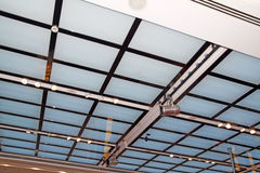 Ceiling grid wall background Stock Images